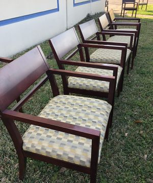 Mahogany Wood Chairs $39 each for Sale in Houston, TX