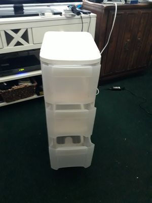 3 drawer plastic drawers on wheels for Sale in Tampa, FL
