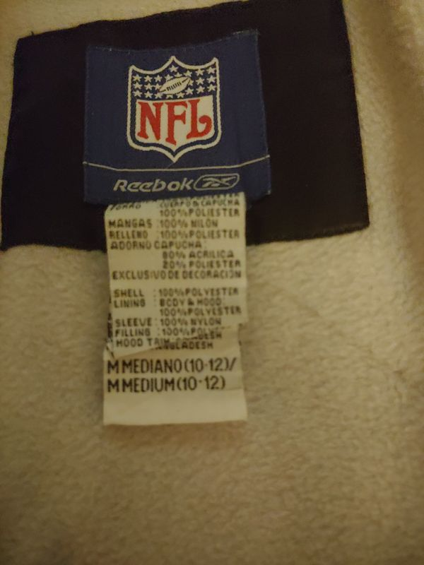 Girls size 10/12 steelers reebok winter jacket