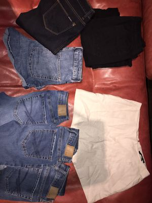 Clothes (aero jeans,forever 21 shirts,shorts/skirt) for Sale in Jurupa Valley, CA