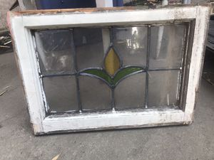 """Antique Pennsylvania Leaded Glass Window 20"""" x 14 1/2"""" for Sale in Glendale, CA"""