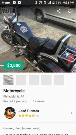 1985 Honda Shadow motorcycle 750 cc for Sale in Philadelphia, PA