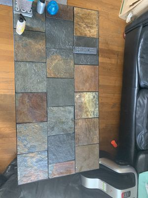Stone coffee table with small side table for Sale in Portland, OR