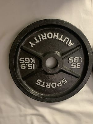 35 pound plate weights for Sale in Toms River, NJ