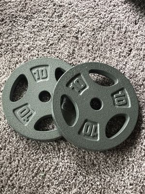 10lb Cap Weight Plates for Sale in Charlotte, NC