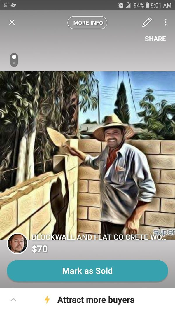 Concrete flatwork and blockwall work Orange County ONLY
