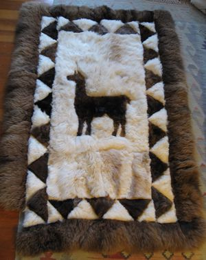 Real alpaca llama fur shearling rug NO OFFERS for Sale in Portland, OR