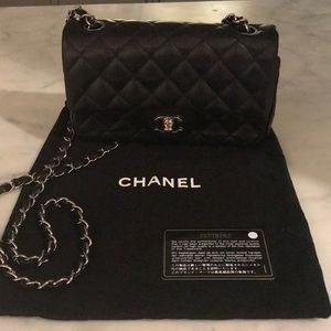 Chanel Lambskin Mini Rectangular Flap Bag Black for Sale in Katy, TX
