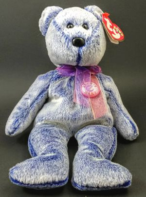 """TY BEANIE BABY 2000 ~ PERIWINKLE BLUE """"E"""" BEAR ~ Retired for Sale in Winter Haven, FL"""