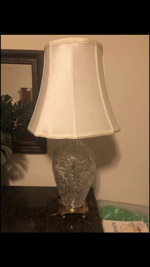 Heavy Glass Table Lamp for Sale in Bel Aire, KS