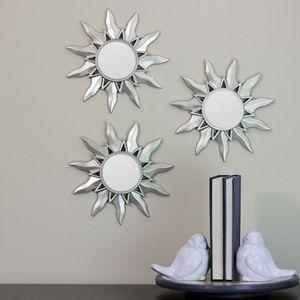 Sun Wall Mirrors Set of 3 Sunburst Home Decor for Sale in Hemet, CA