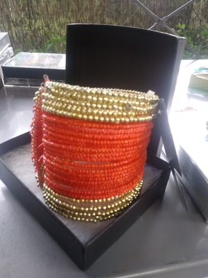Gold & Red Bangle- bracelet for Sale in Hialeah, FL