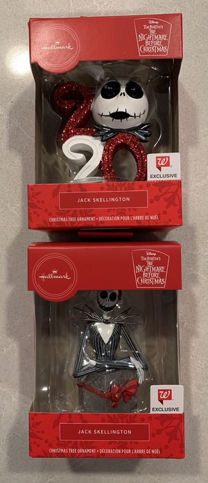 Hallmark Jack Skellington 2020 Ornament *MINT IN HAND* Nightmare Before Christmas Walgreens Exclusive for Sale in Flower Mound, TX