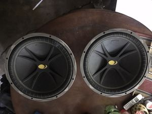 Kickers 15 inch subwoofers 4 ohm for Sale in Dallas, TX