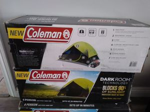 Coleman 6 Person Dark Room Camping Tent $75 each Brand New. (Firm on Price) for Sale in Gardena, CA