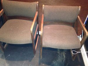 Two brown wood matching chairs for Sale in Caledonia, MI