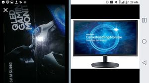 """Samsung 8k Qled curved 27"""" Gaming monitor for Sale in Fresno, CA"""