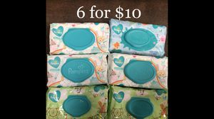 Pampers Wet Wipes 6 for $10 for Sale in Monterey Park, CA