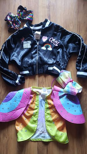 Jojo Swia Jacket Bow Girls Size Medium 7 - 8 Matching Sequin Bow and Headband Costume Dress Up for Sale in Las Vegas, NV