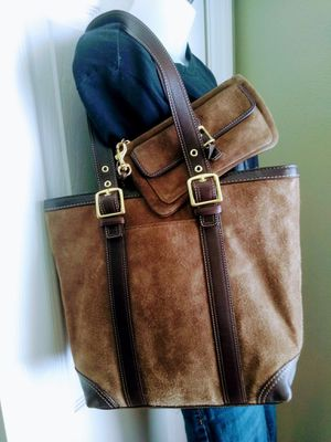 Coach suede/leather bag and wallet set for Sale in Lakeland, FL