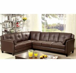 Espresso Leatherette Sofa Sectional Couch for Sale in Downey,  CA