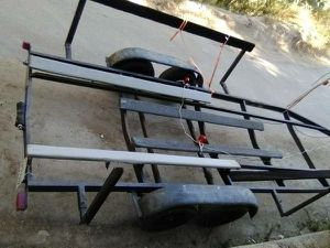 25ft boat dual axle car hauler trailer current tags and title for Sale in San Bernardino, CA