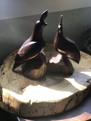 Vintage Hand Carved Birds Sculpture for Sale for sale  Round Rock, TX