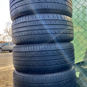 ✅(4) 245/45R18 inch tires ✅ Check out pics ✅ No issues ✅ Ready To go ✅ for Sale in Denver, CO