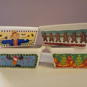 Festive Mini Ceramic Loaf Pans for Sale in Lanham, MD