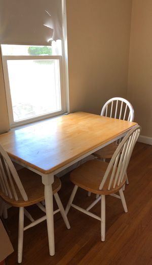 Dining Room Table and 3 chairs! for Sale in Belmont, MA