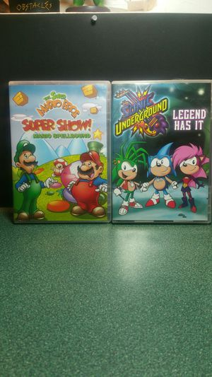 Super Mario Super Show and Sonic Underground DVDs for Sale in Perris, CA