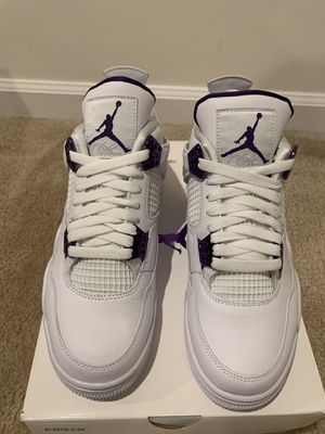 Air Jordan 4 Purple Metallic Size 9.5 and 11.5 for Sale in Elkridge, MD