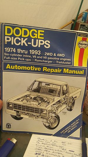 Dodge pickup automotive repair manual for Sale in American Canyon, CA
