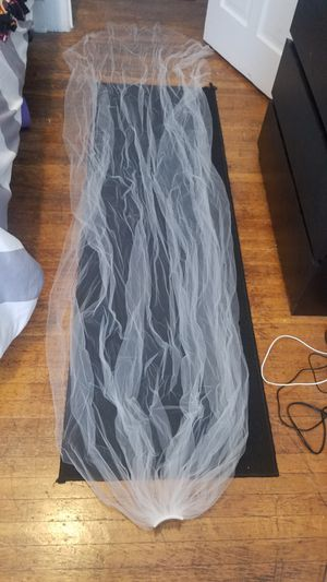 Light ivory cathedral length wedding veil for Sale in Baltimore, MD