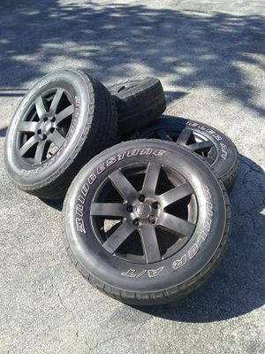 Jeep Wrangler wheels and tires for Sale in Crete, IL