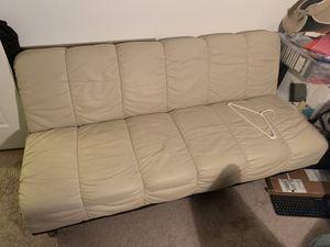 White leather futon for Sale in Miami, FL