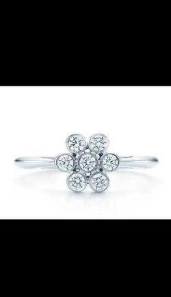 Tiffany Diamond Flower Ring Size 7 for Sale in Seattle,  WA