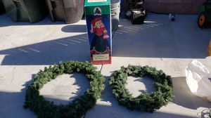 2 wreaths and xmas doll for Sale in Pico Rivera, CA