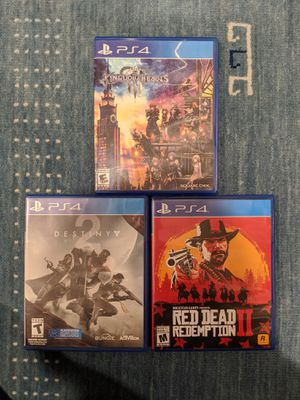 Red Dead Redemption 2 + Kingdom Hearts 3 + Destiny 2 - PS4 - Scratch FREE for Sale in Brooklyn, NY