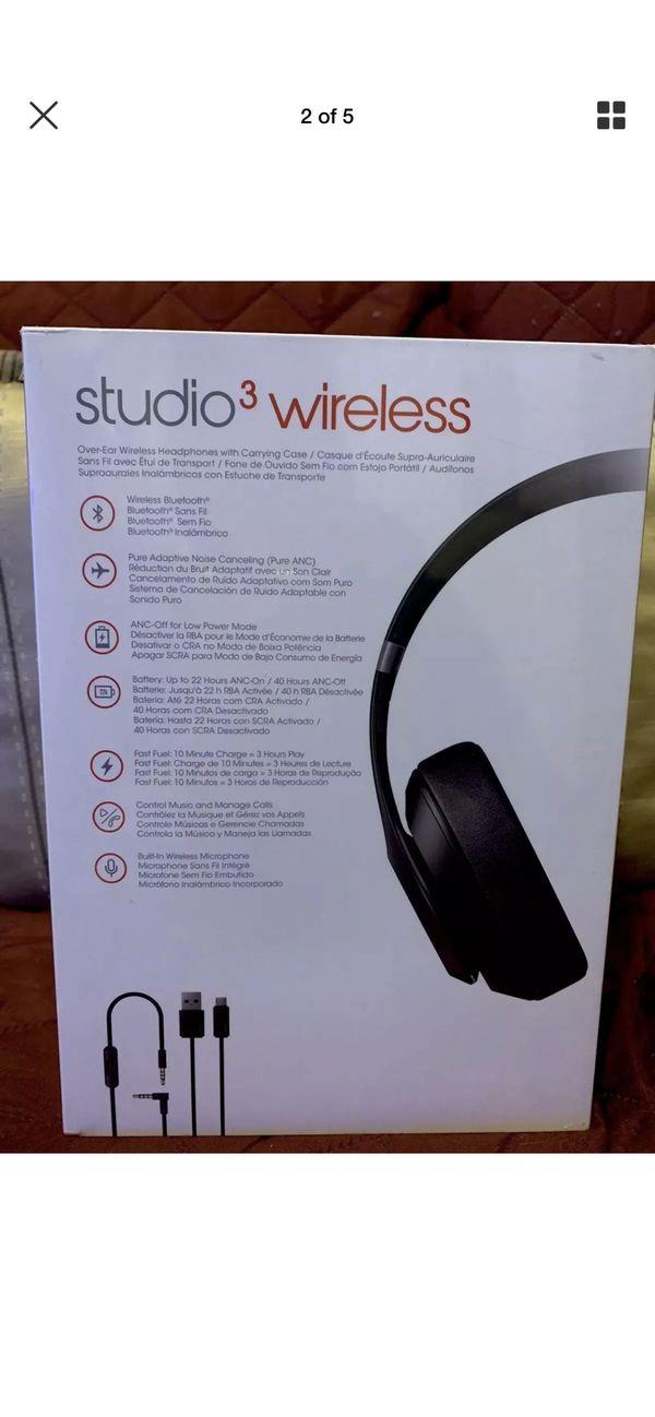 Beats By Dr. Dre -Studio 3 Wireless Brand New