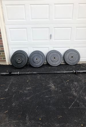 Complete Bumper Plate weight set for Sale in HOFFMAN EST, IL