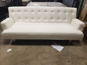New white color futon convertible sofa tax included free delivery for Sale in Hayward, CA
