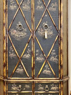 """Vintage bamboo chinoserie corner cabinet W 43"""" x D 24"""" x H 75"""" for Sale in Punta Gorda,  FL"""