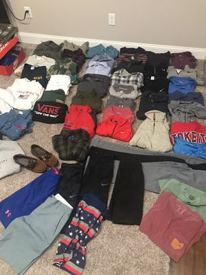 Clark · LOT of (53x Pieces) Men's clothing + 2 pairs of shoes. Name brands - Patagonia, Nike, Vintage for Sale in Columbus, OH