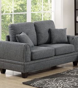 Loveseat with Nailhead Accent, Ash Black for Sale in Cleveland,  OH