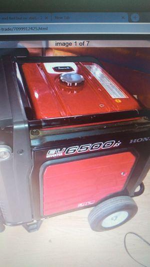 Honda eu6500is generator for Sale in Portland, OR