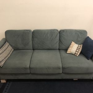 Light Blue Microfiber Couch for Sale in Brooklyn, NY