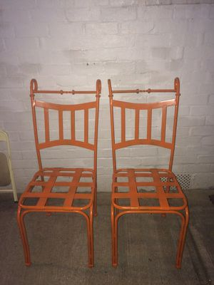 Two metal lawn/Patio chair for Sale in Takoma Park, MD