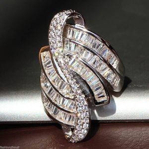 *NEW ARRIVAL* Elegant Baguette White Sapphire Cocktail Ring Stamped 925 SZ 7 - 10 *See My Other 500 Items* for Sale in Palm Beach Gardens, FL
