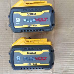 Brand new 9.0 ah flex volt batteries for Sale in Greenville, SC